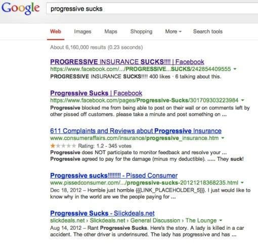 Progressive sucks