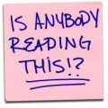 anyone reading this