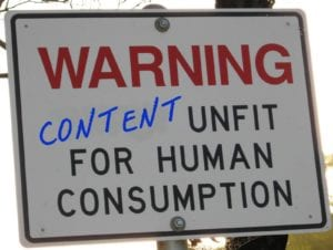 Warning-bad-content